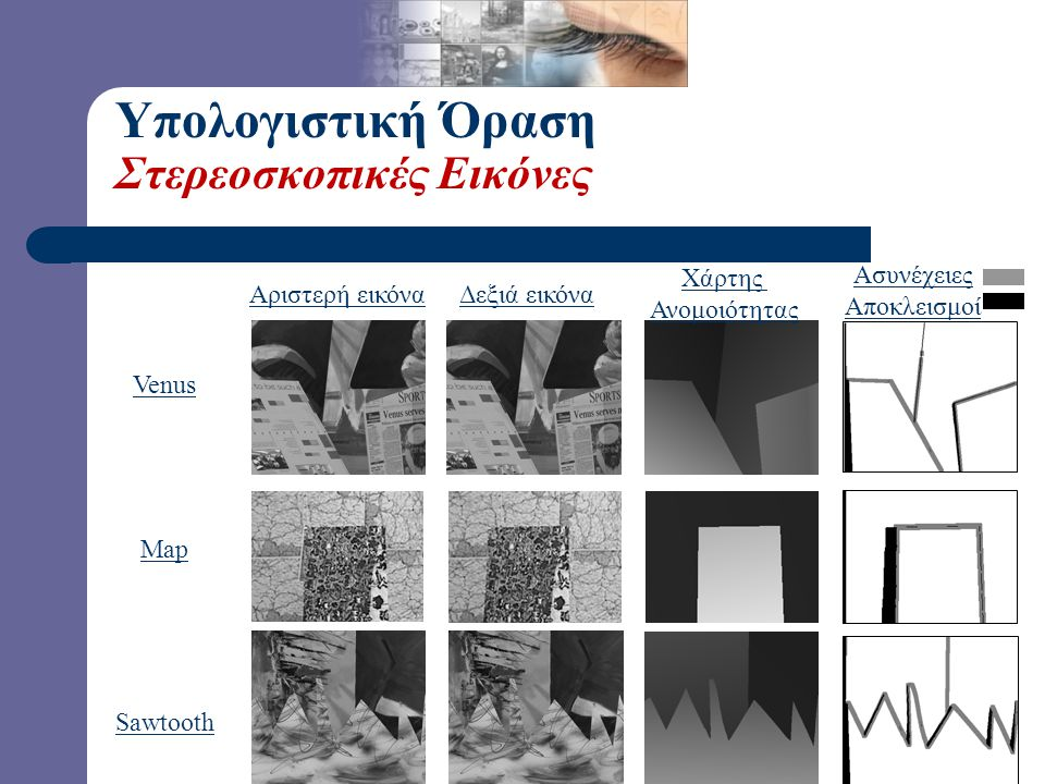 Υπολογιστική Όραση Στερεοσκοπικές Εικόνες Ασυνέχειες Αποκλεισμοί