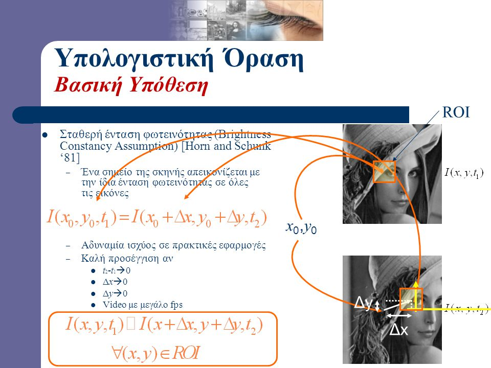 Υπολογιστική Όραση Βασική Υπόθεση