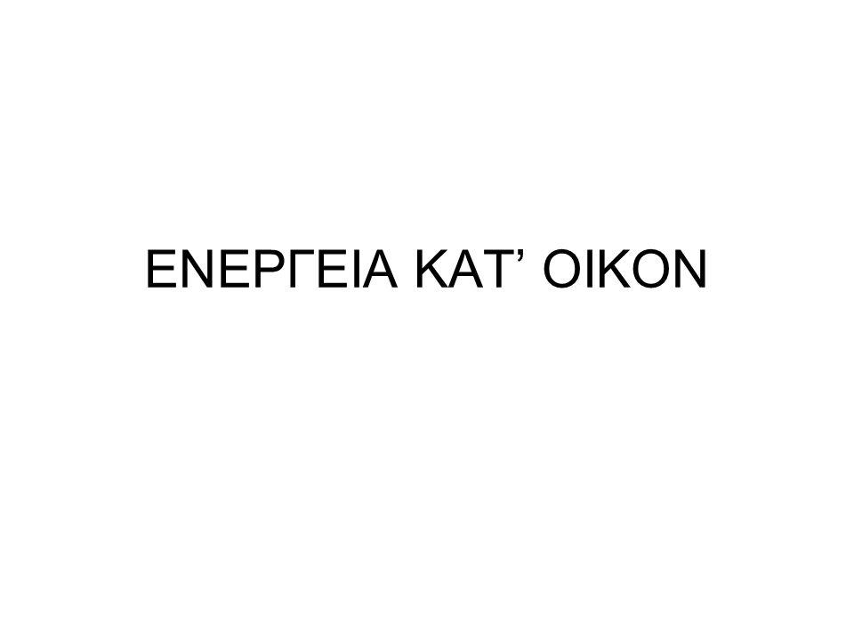 ΕΝΕΡΓΕΙΑ ΚΑΤ' ΟΙΚΟΝ