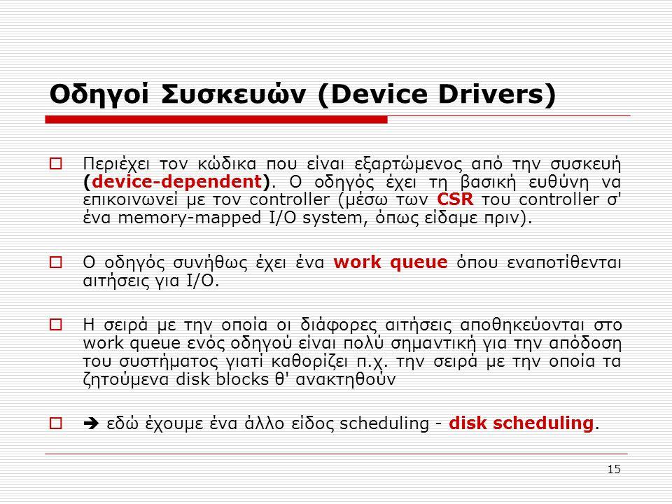 Οδηγοί Συσκευών (Device Drivers)