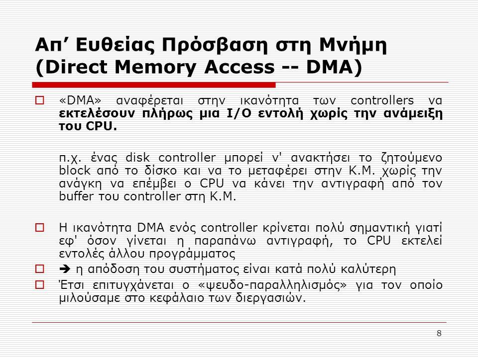 Απ' Ευθείας Πρόσβαση στη Μνήμη (Direct Memory Access -- DMA)