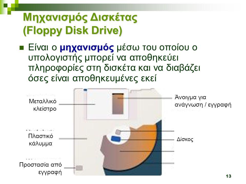 Μηχανισμός Δισκέτας (Floppy Disk Drive)
