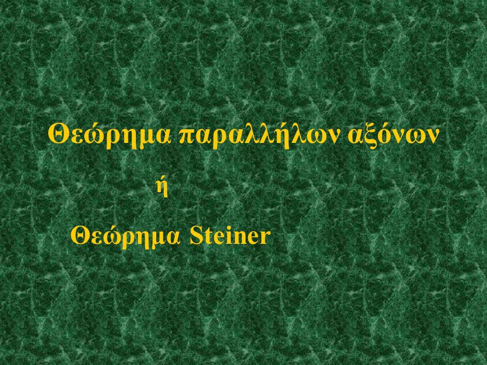 Θεώρημα παραλλήλων αξόνων