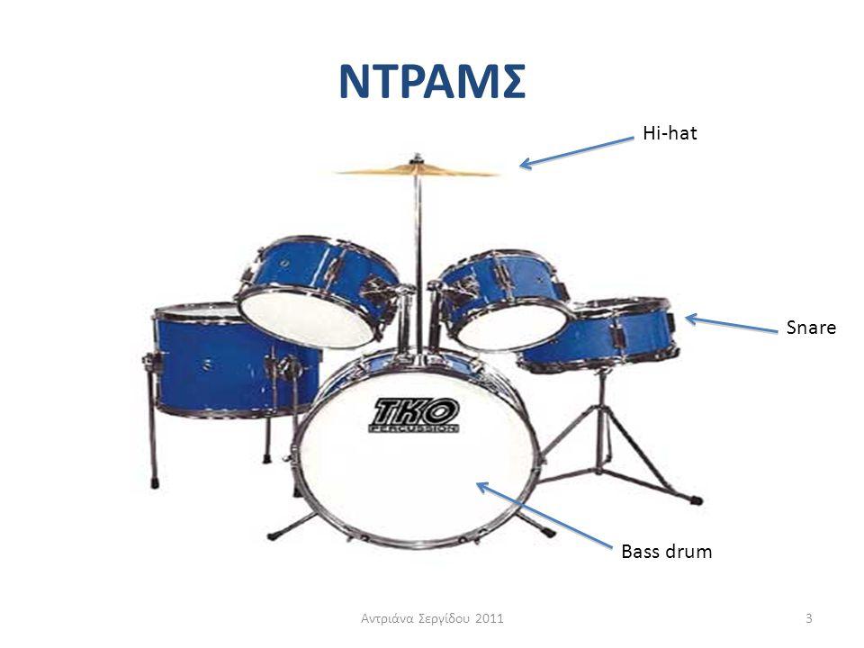 ΝΤΡΑΜΣ Hi-hat Snare Bass drum Αντριάνα Σεργίδου 2011
