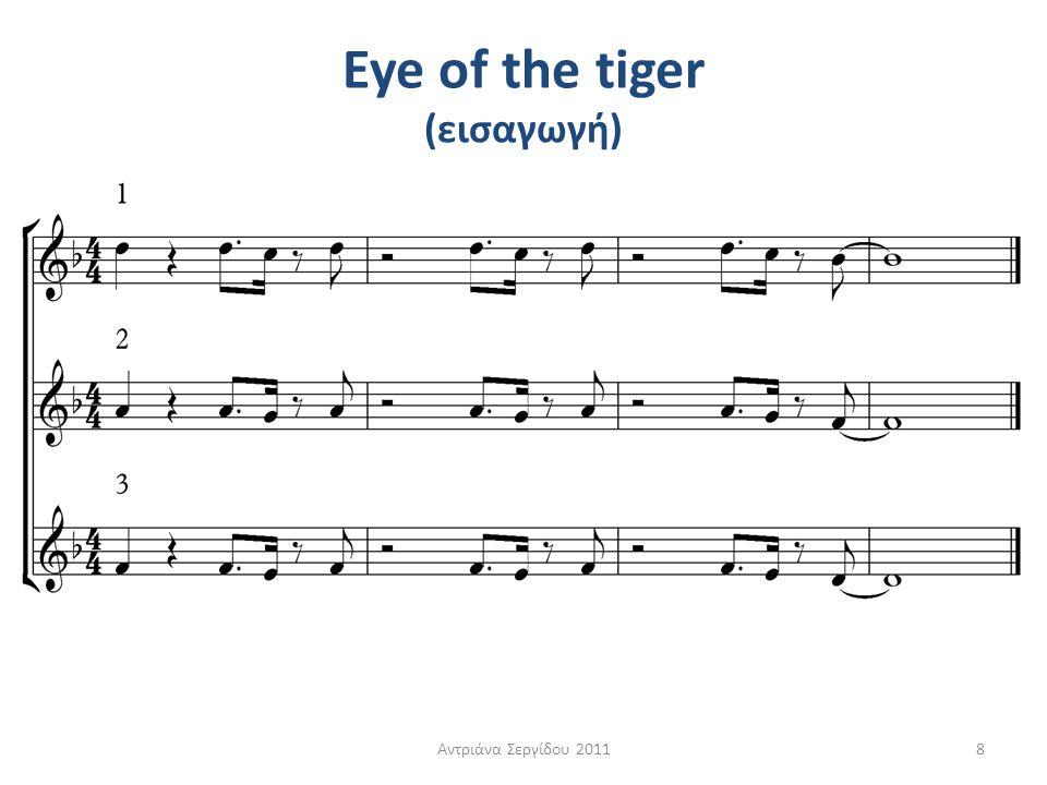 Eye of the tiger (εισαγωγή)