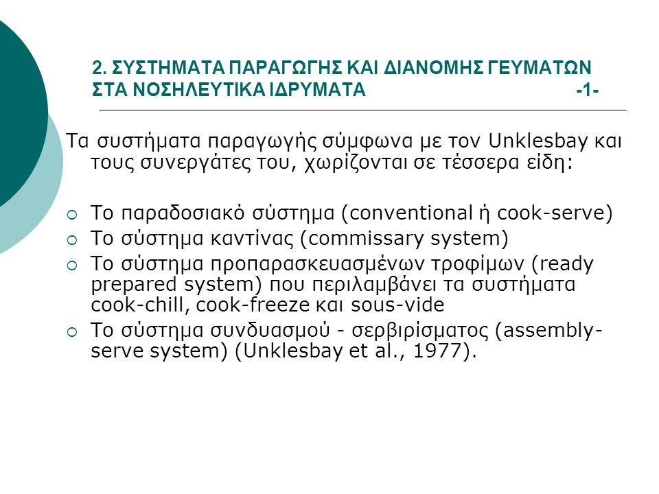 Το παραδοσιακό σύστημα (conventional ή cook-serve)