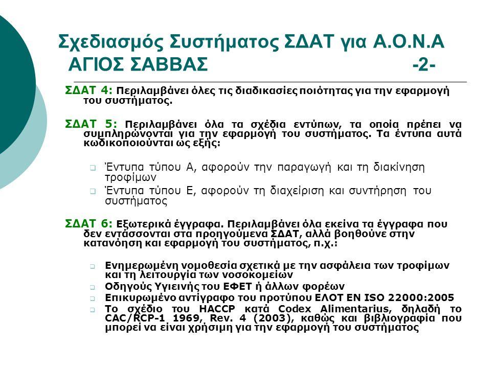 Σχεδιασμός Συστήματος ΣΔΑΤ για Α.Ο.Ν.Α ΑΓΙΟΣ ΣΑΒΒΑΣ -2-