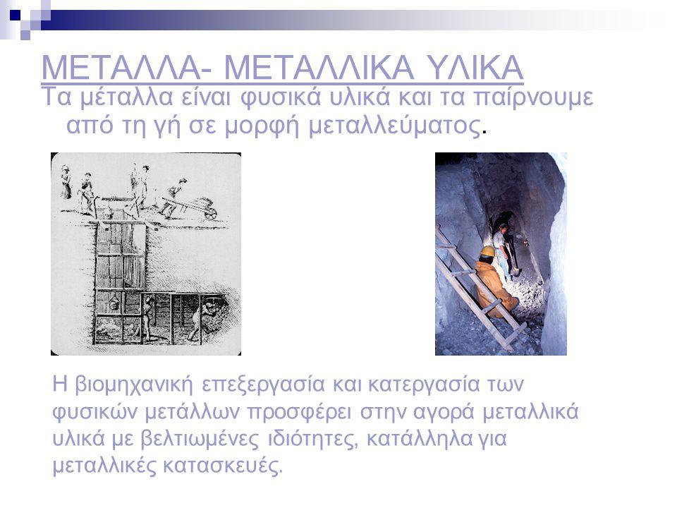 ΜΕΤΑΛΛΑ- ΜΕΤΑΛΛΙΚΑ ΥΛΙΚΑ