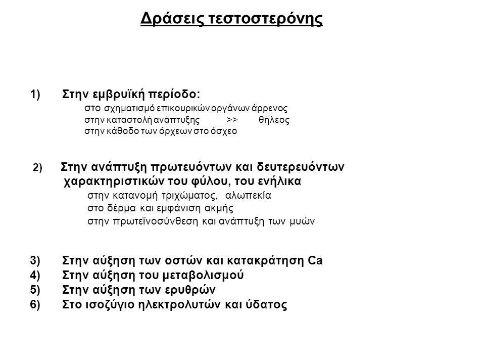 Δράσεις τεστοστερόνης
