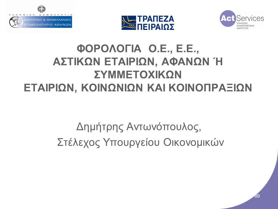 Δημήτρης Αντωνόπουλος, Στέλεχος Υπουργείου Οικονομικών