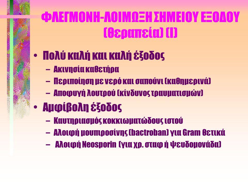 ΦΛΕΓΜΟΝΗ-ΛΟΙΜΩΞΗ ΣΗΜΕΙΟΥ ΕΞΟΔΟΥ (θεραπεία) (Ι)
