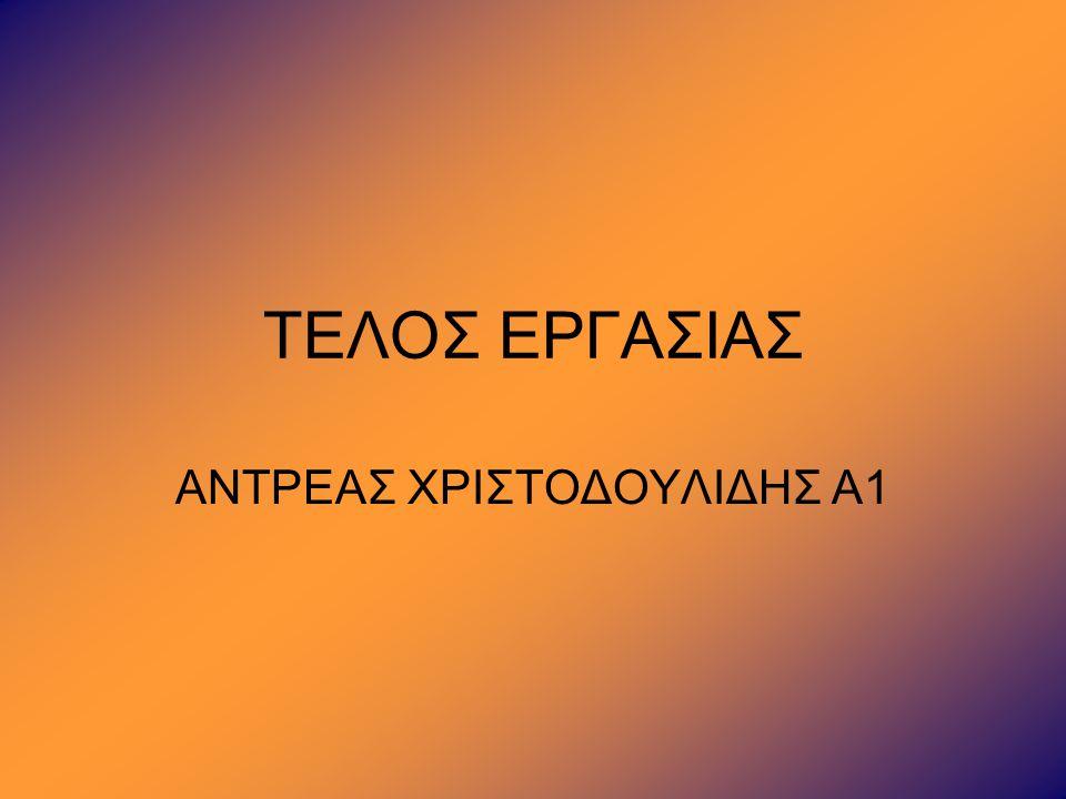 ΑΝΤΡΕΑΣ ΧΡΙΣΤΟΔΟΥΛΙΔΗΣ Α1