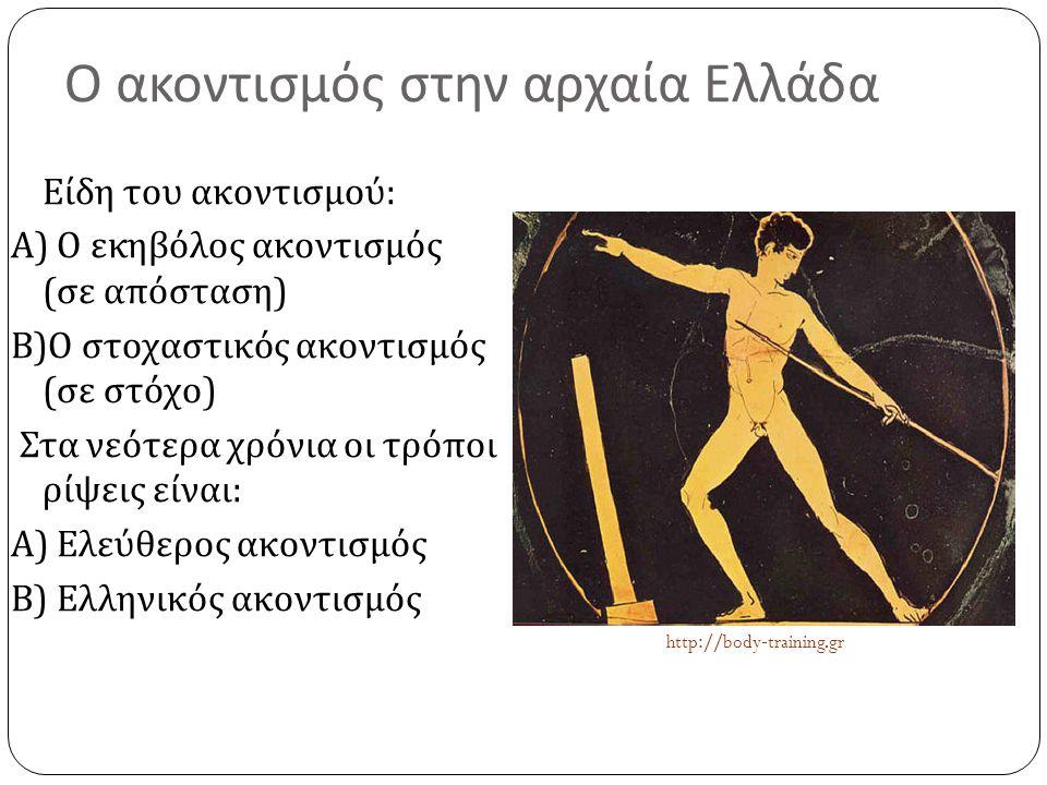 Ο ακοντισμός στην αρχαία Ελλάδα