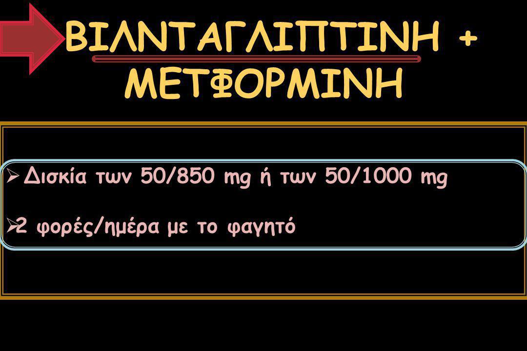 ΒΙΛΝΤΑΓΛΙΠΤΙΝΗ + ΜΕΤΦΟΡΜΙΝΗ