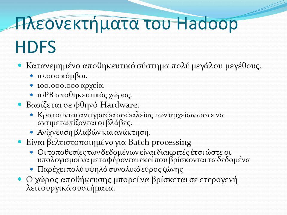 Πλεονεκτήματα του Hadoop HDFS