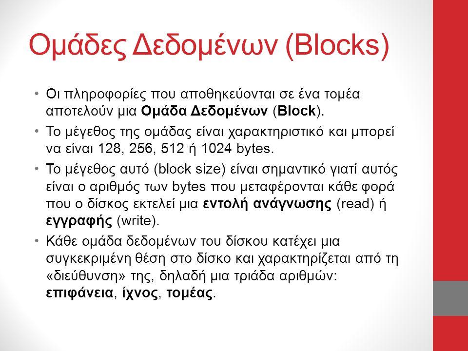 Ομάδες Δεδομένων (Blocks)