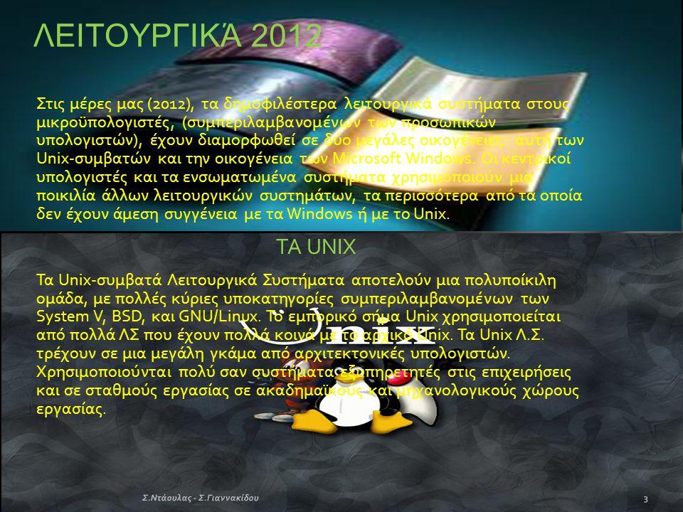 ΛΕΙΤΟΥΡΓΙΚΆ 2012