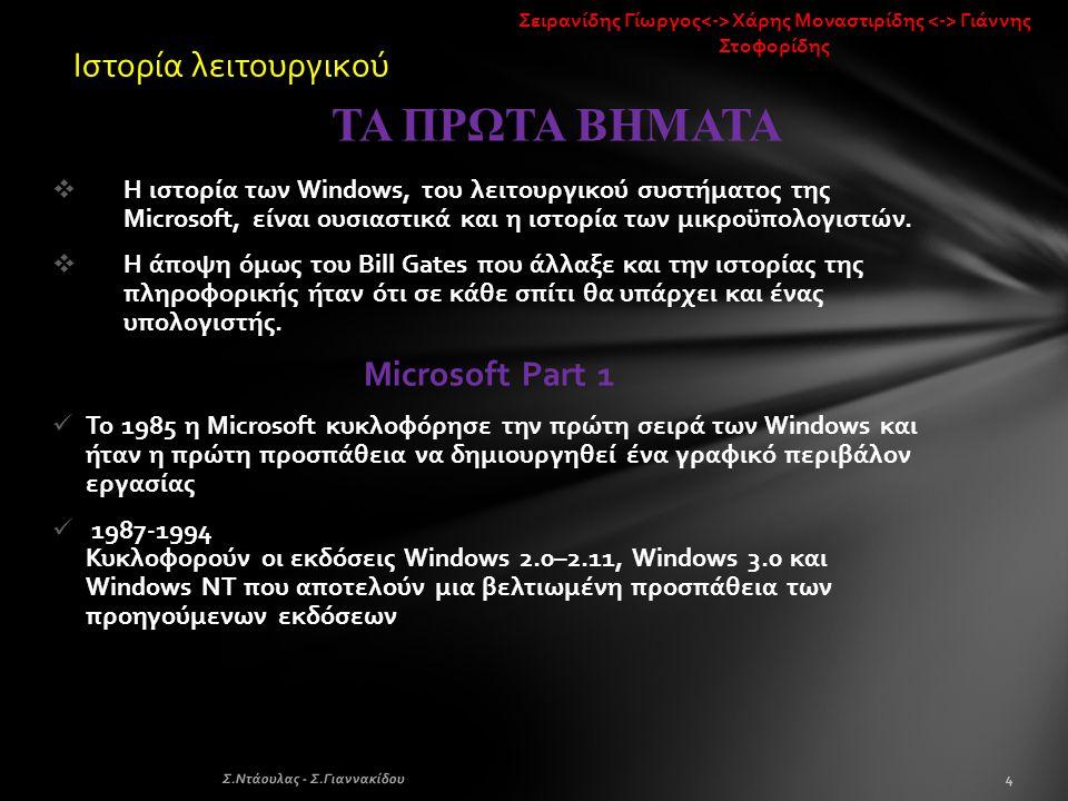 ΤΑ ΠΡΩΤΑ ΒΗΜΑΤΑ Ιστορία λειτουργικού Microsoft Part 1