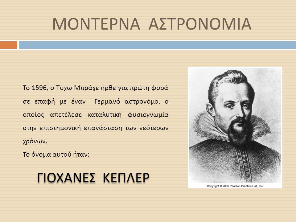 ΜΟΝΤΕΡΝΑ ΑΣΤΡΟΝΟΜΙΑ ΓΙΟΧΑΝΕΣ ΚΕΠΛΕΡ