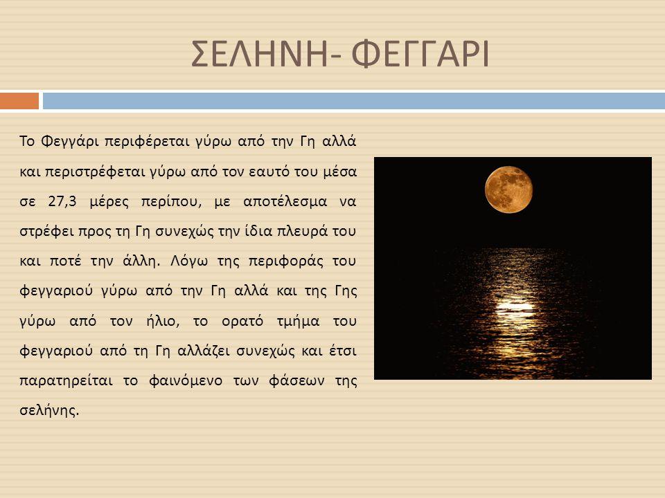 ΣΕΛΗΝΗ- ΦΕΓΓΑΡΙ