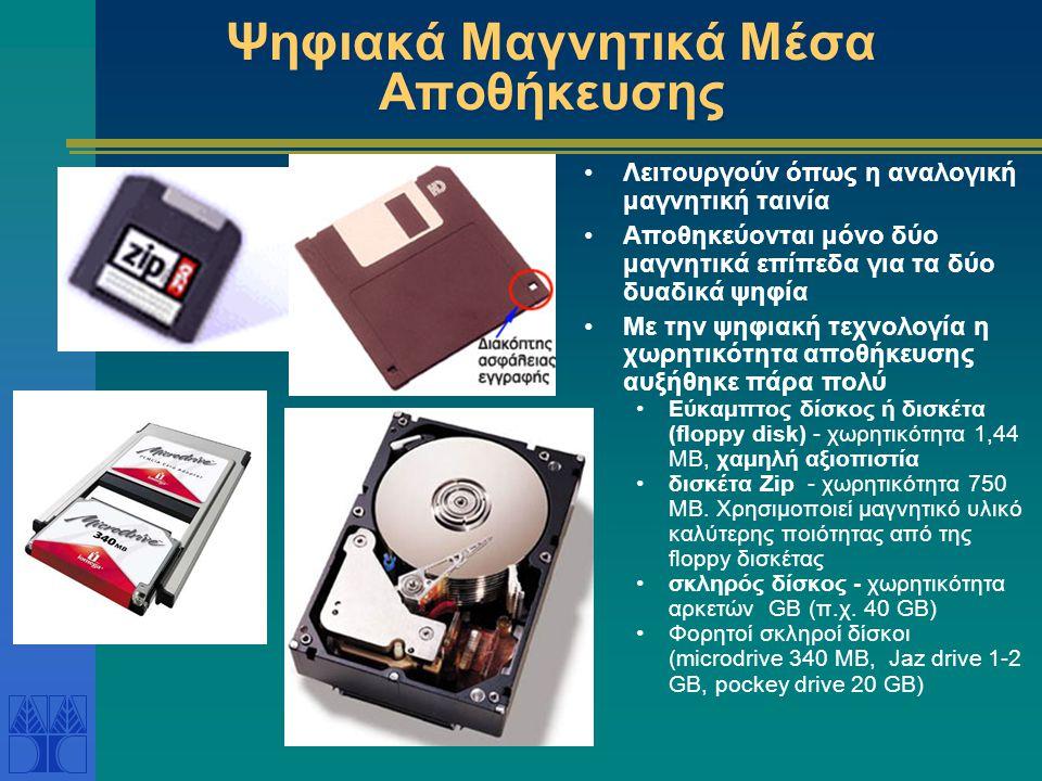Ψηφιακά Μαγνητικά Μέσα Αποθήκευσης