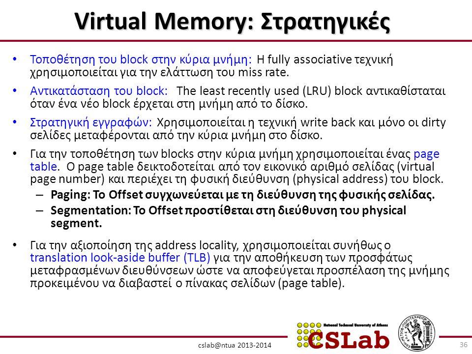 Virtual Memory: Στρατηγικές