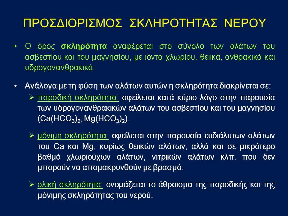 ΠΡΟΣΔΙΟΡΙΣΜΟΣ ΣΚΛΗΡΟΤΗΤΑΣ ΝΕΡΟΥ