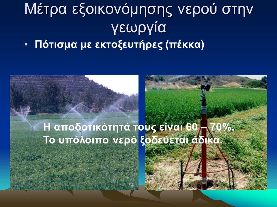 Μέτρα εξοικονόμησης νερού στην γεωργία