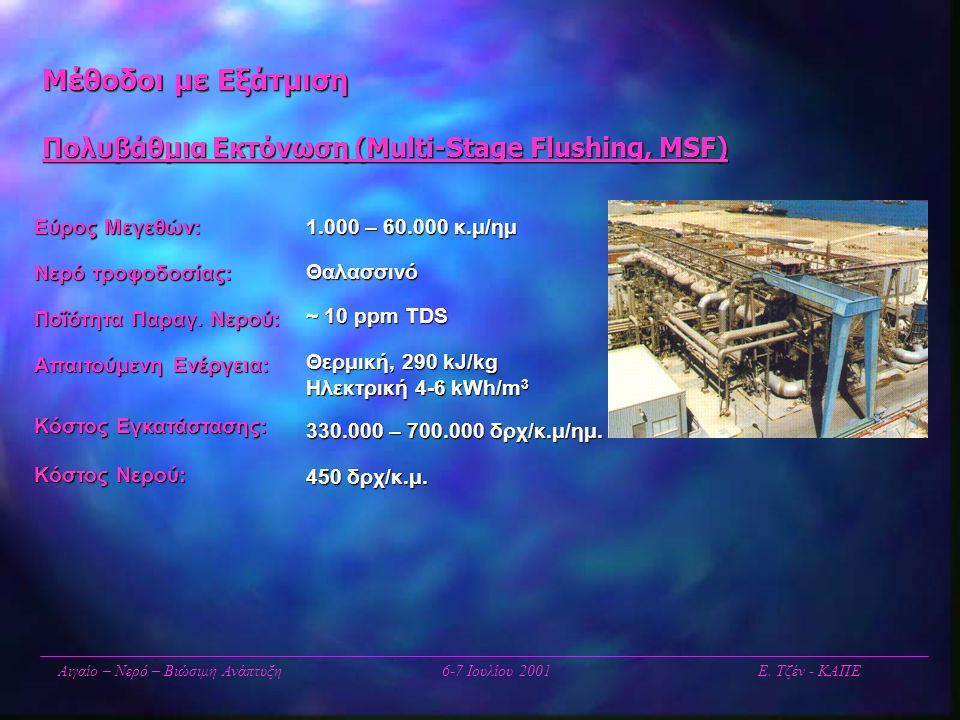 Μέθοδοι με Εξάτμιση Πολυβάθμια Εκτόνωση (Multi-Stage Flushing, MSF)
