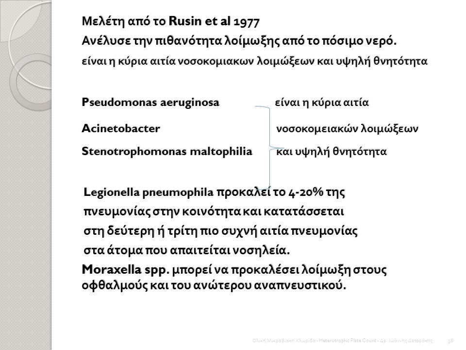 Μελέτη από το Rusin et al 1977