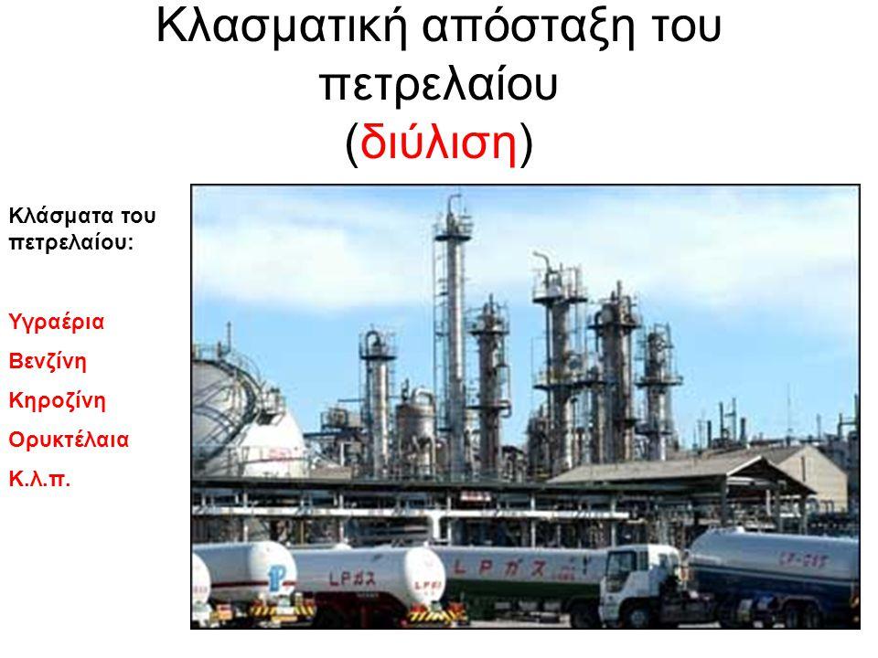 Κλασματική απόσταξη του πετρελαίου (διύλιση)