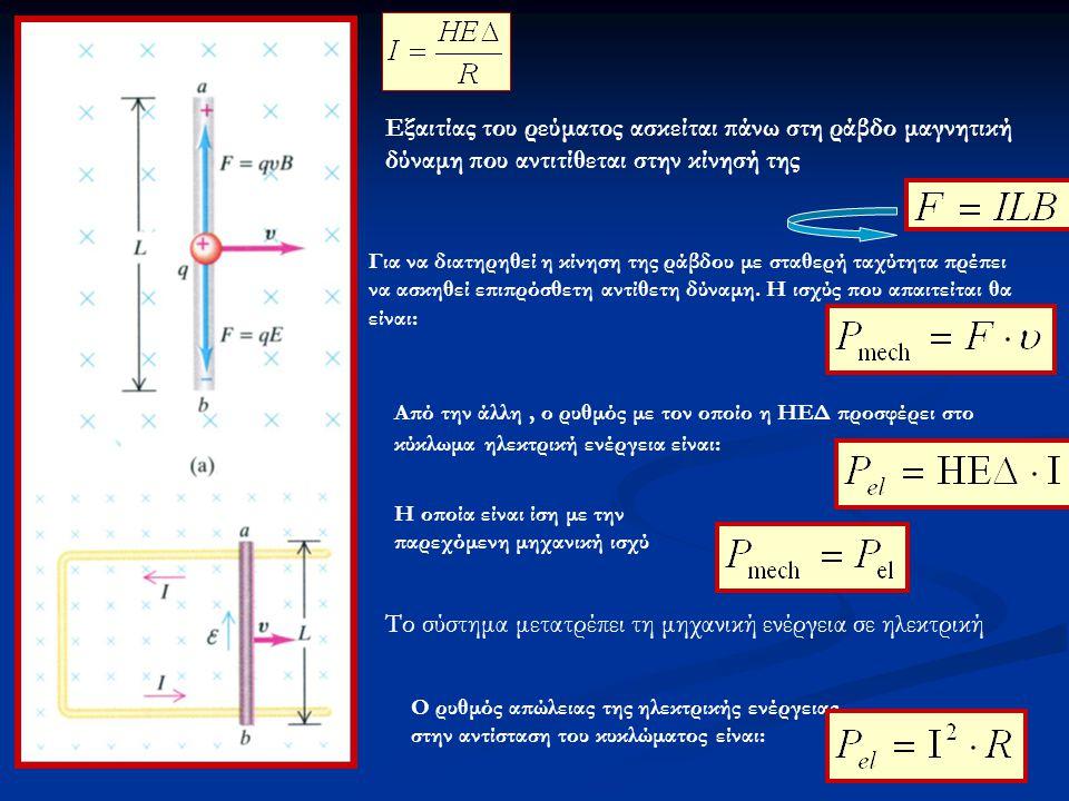 Το σύστημα μετατρέπει τη μηχανική ενέργεια σε ηλεκτρική