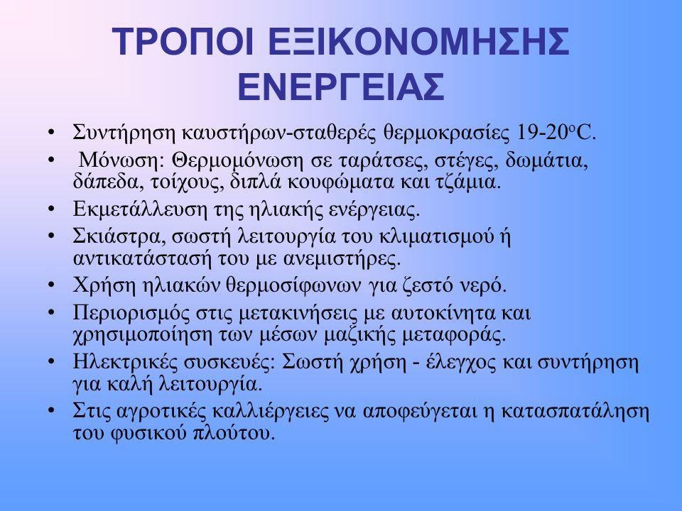 ΤΡΟΠΟΙ ΕΞΙΚΟΝΟΜΗΣΗΣ ΕΝΕΡΓΕΙΑΣ