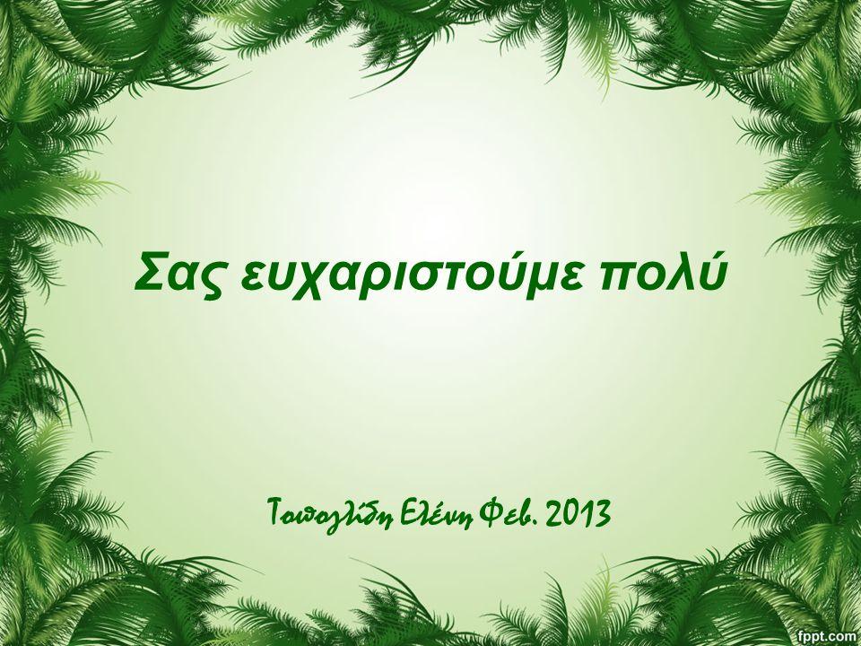 Σας ευχαριστούμε πολύ Τοπογλίδη Ελένη Φεβ. 2013