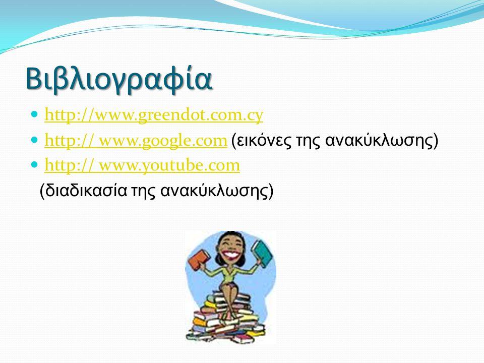 Βιβλιογραφία http://www.greendot.com.cy