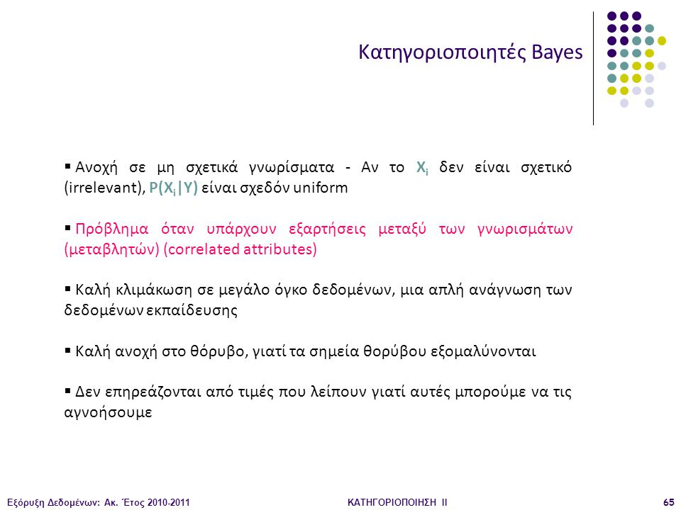 Κατηγοριοποιητές Bayes
