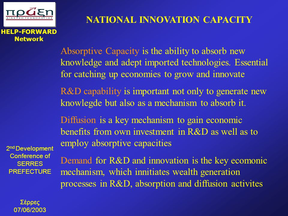 NATIONAL INNOVATION CAPACITY