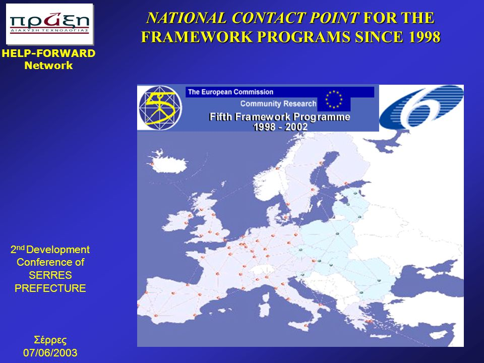 NATIONAL CONTACT POINT FOR THE FRAMEWORK PROGRAMS SINCE 1998