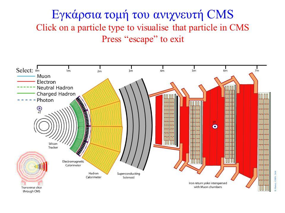 Εγκάρσια τομή του ανιχνευτή CMS