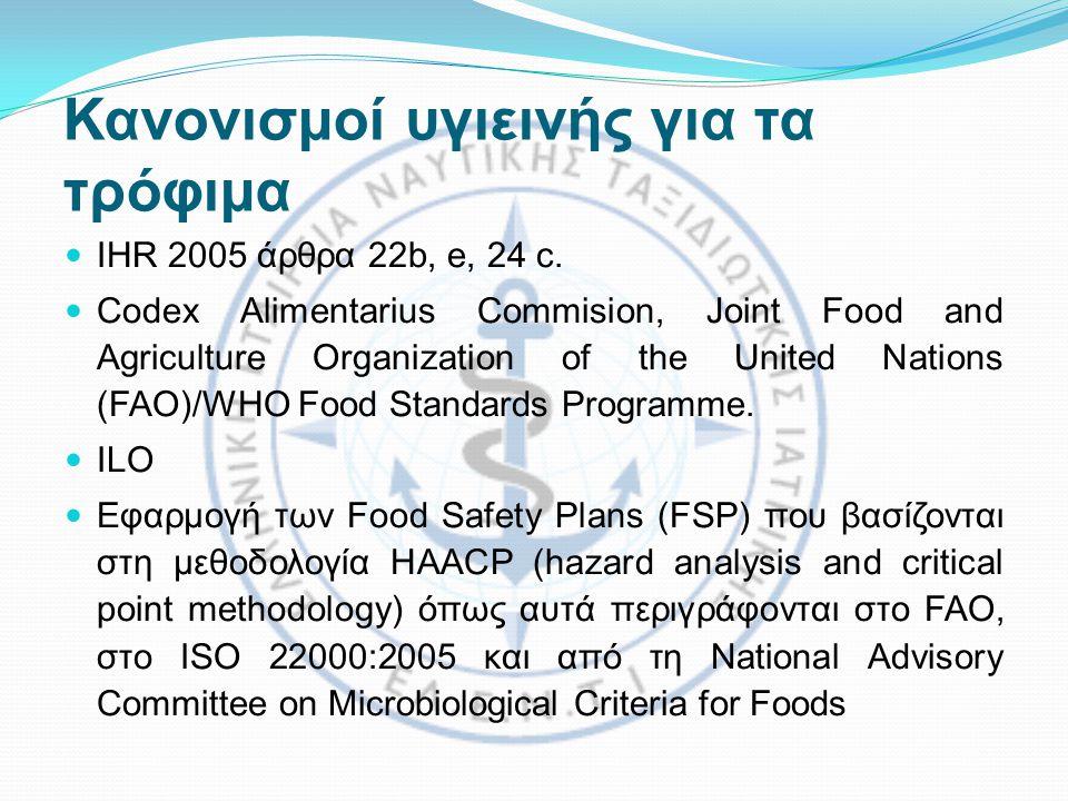 Κανονισμοί υγιεινής για τα τρόφιμα