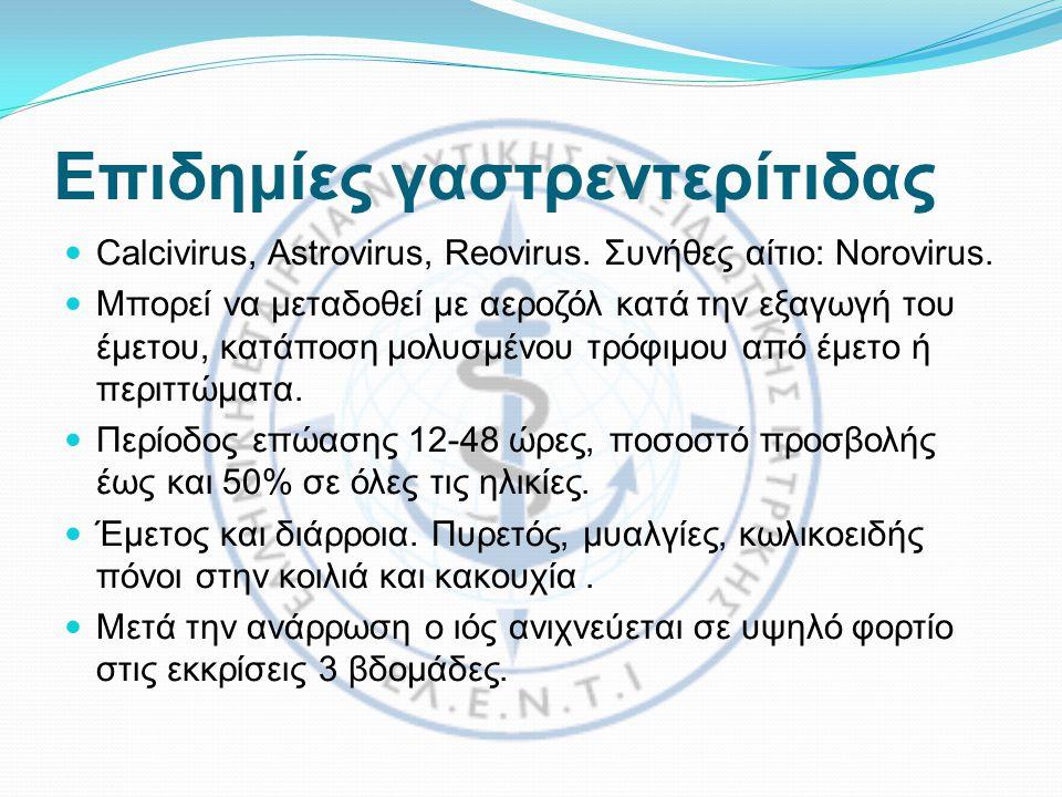Επιδημίες γαστρεντερίτιδας