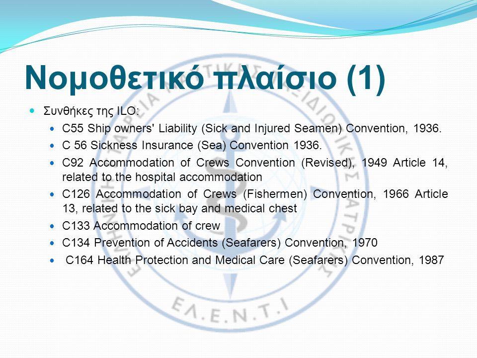 Νομοθετικό πλαίσιο (1) Συνθήκες της ILO: