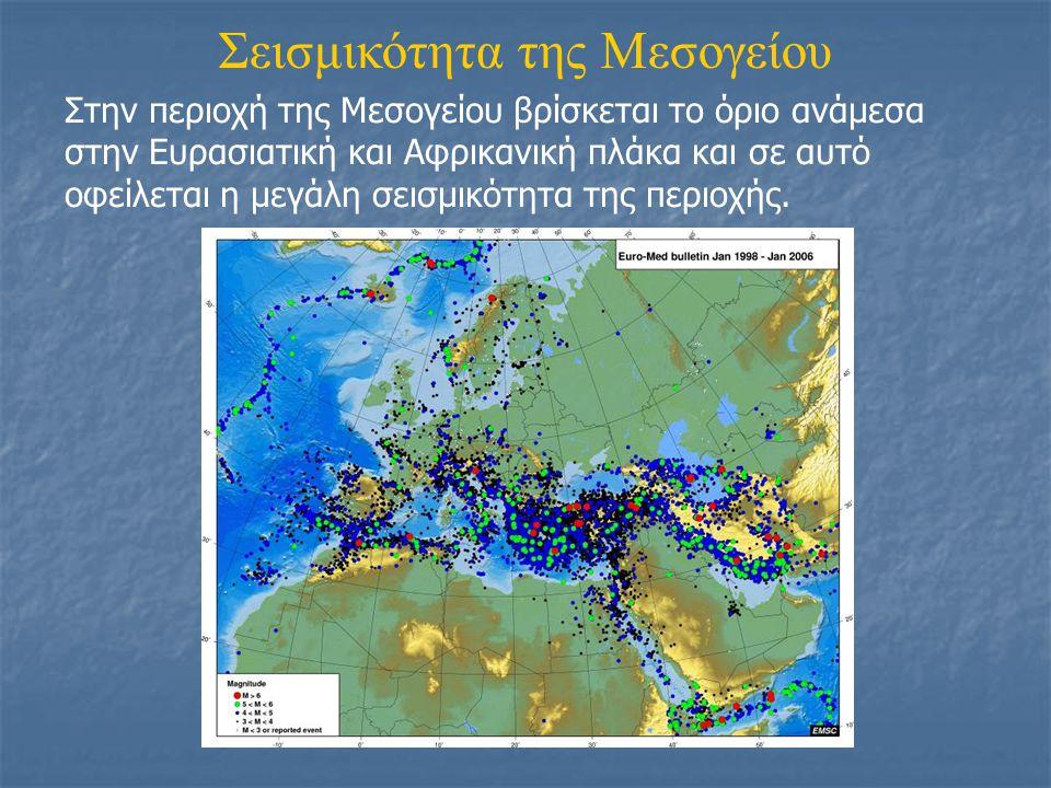 Σεισμικότητα της Μεσογείου