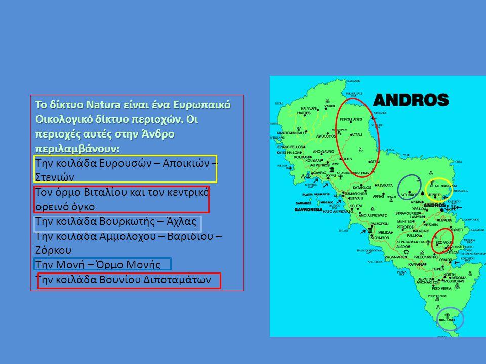 Το δίκτυο Natura είναι ένα Ευρωπαικό Οικολογικό δίκτυο περιοχών