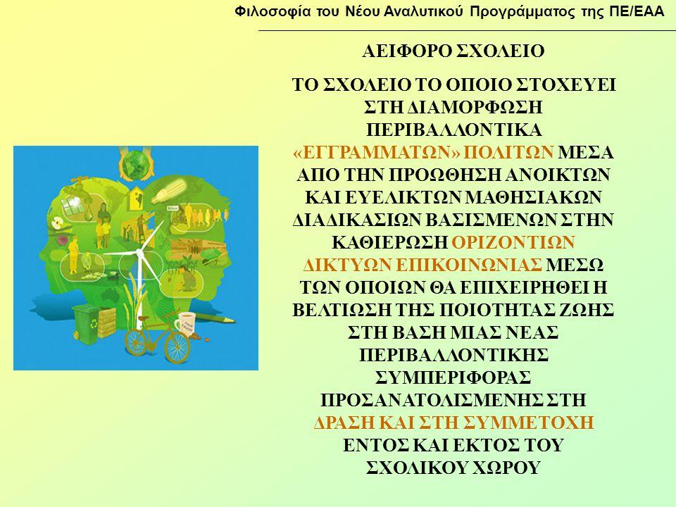 Φιλοσοφία του Νέου Αναλυτικού Προγράμματος της ΠΕ/ΕΑΑ
