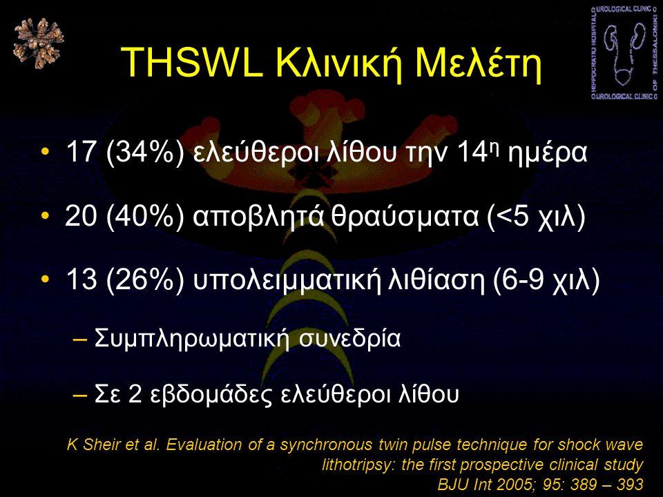 THSWL Κλινική Μελέτη 17 (34%) ελεύθεροι λίθου την 14η ημέρα