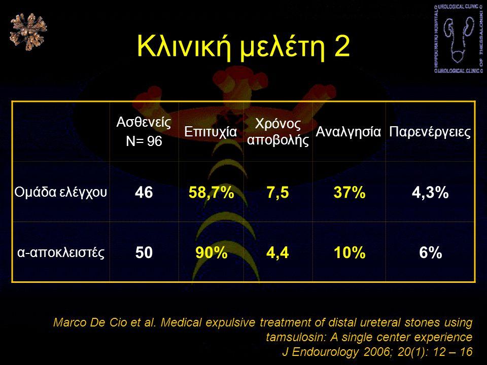Κλινική μελέτη 2 46 58,7% 7,5 37% 4,3% 50 90% 4,4 10% 6% Ασθενείς