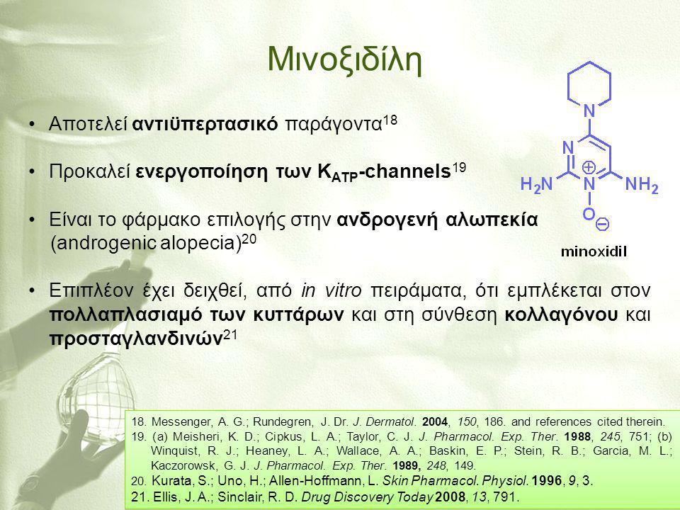 Μινοξιδίλη Aποτελεί αντιϋπερτασικό παράγοντα18