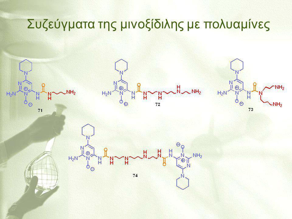 Συζεύγματα της μινοξίδιλης με πολυαμίνες
