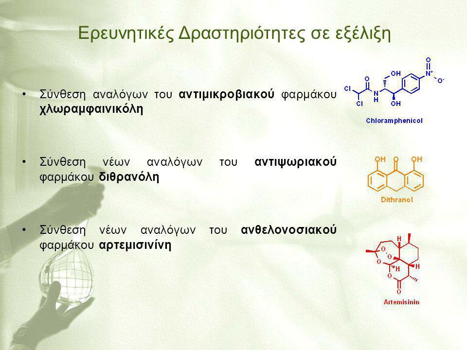 Ερευνητικές Δραστηριότητες σε εξέλιξη